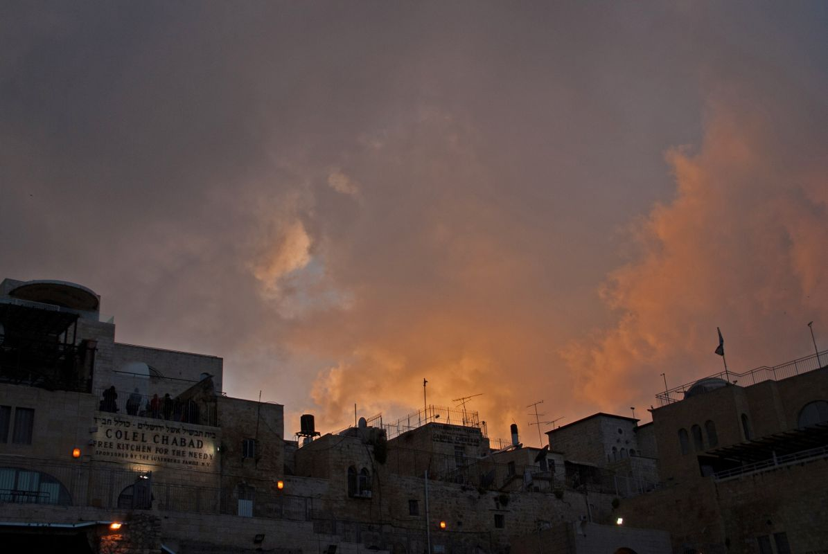 Clouds over Israel